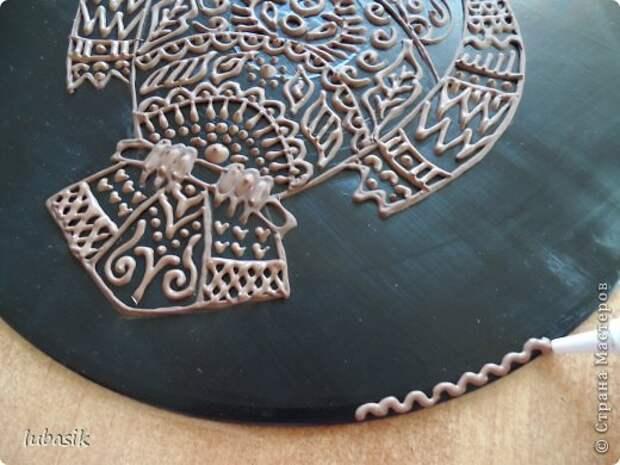 Декор предметов Мастер-класс Роспись Как я делала панно - по просьбам мастериц фото 31