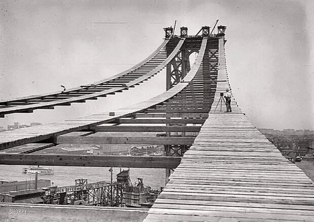 Строительство Манхэттенского моста. 1908 Весь Мир, история, фотографии