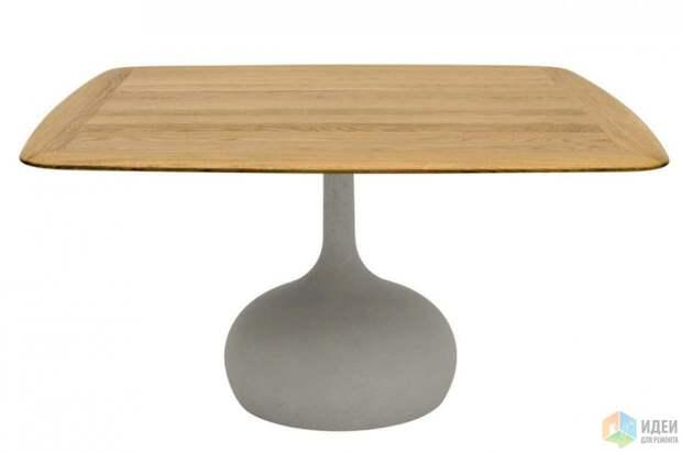 Обеденный стол с бетонным основанием