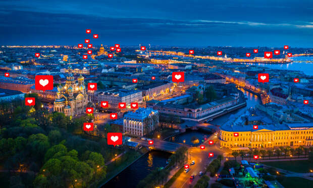 Вид Санкт-Петербурга.