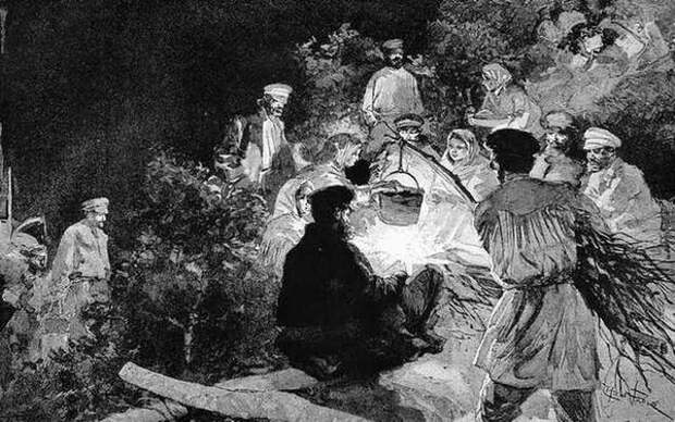 Ночёвка переселенцев