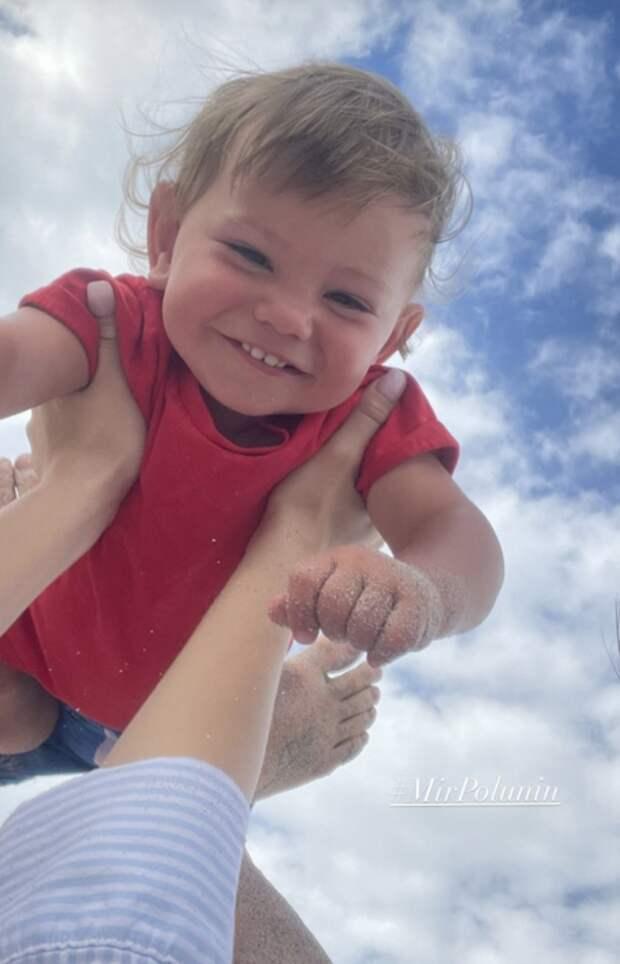 Елена Ильиных и Сергей Полунин поделились новыми фотографиями сына Мира