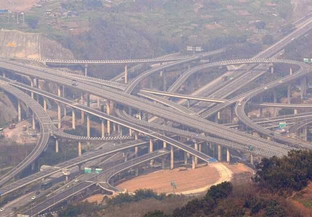 Пять уровней упорства китайцев: супер автомагистрали Чунцина