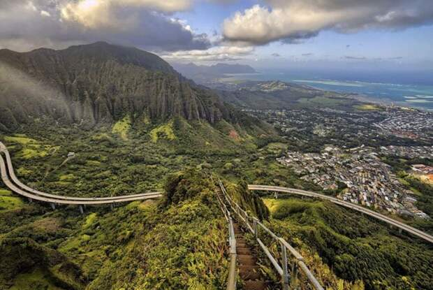 Лестница Хайку, Гавайи путешествия, факты, фото