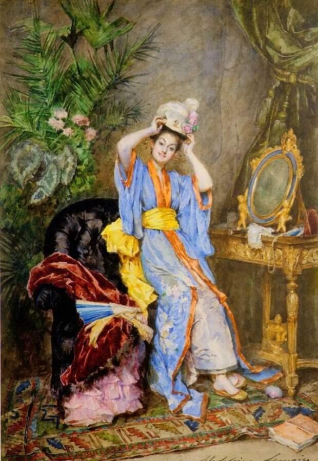 Художник Madeleine Jeanne Lemaire (1845 — 1926). Она вторая после бога