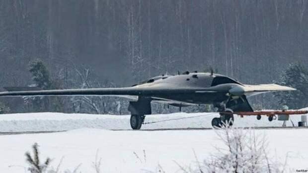 Российский беспилотник «Охотник-Б» сбросил авиабомбу массой 500 кг