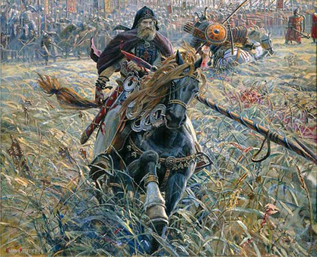 Победа Пересвета. Автор: Павел Рыженко.