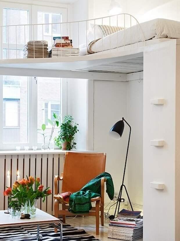 Идеи по созданию спальни-чердака