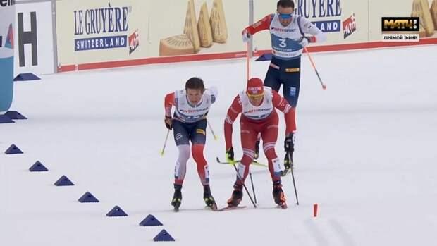 Лыжный марафон, победитель дисквалифицирован, Большунов не надел медаль и не поднял голову.