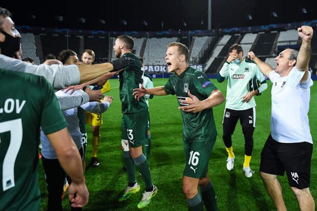 «Краснодар» впервые в истории пробился в Лигу чемпионов