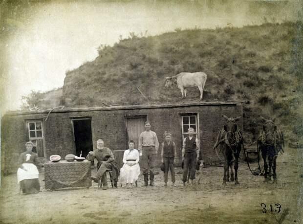 Как поднималась американская целина. Архивные фотографии пионеров Великих равнин конца 19-го века 40