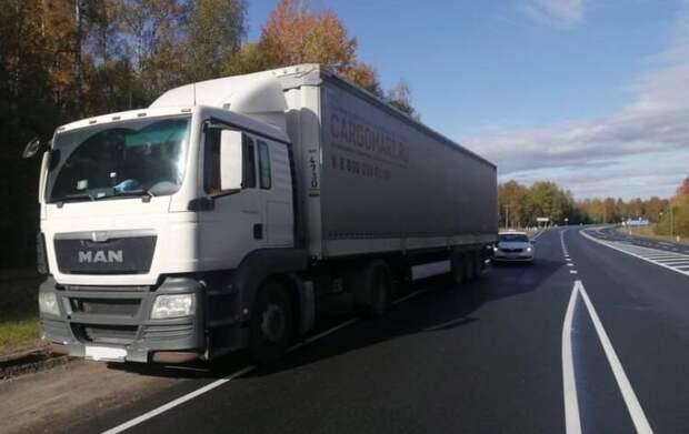 Пьяного водителя фуры отстранили от управления в Карелии