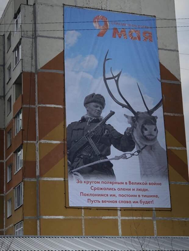 Сражались олени илюди. Советского солдата на плакате к 9 Мая перепутали с оккупантом