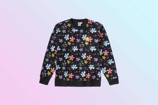 Модная находка: свитшот в цветочек с Губкой Бобом —...
