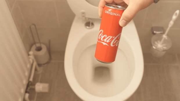 Как при помощи кока-колы очистить унитаз от ржавчины