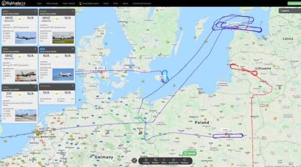 Самолеты НАТО произвели масштабную разведку у границ России