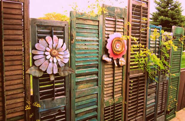 8. декор, забор, креатив