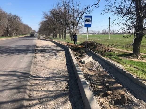 Более половины работ выполнено на автодороге «Красноперекопск – Симферополь»