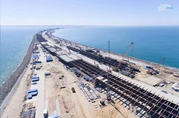Построено 50% опор Керченского мостового перехода