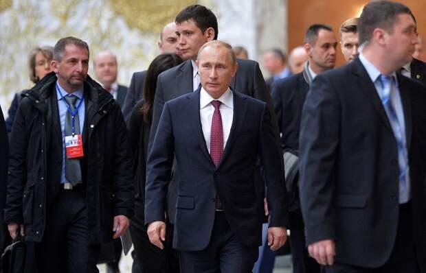 """Владимир Путин на переговорах """"нормандской четверки"""" по урегулированию на юго-востоке Украины"""