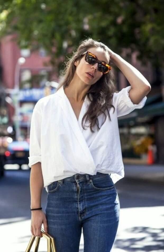 Рубашка, заправленная наискосок, выглядит стильно и оригинально. / Фото: fromua.news