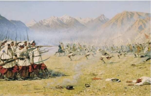 114 русских казаков выдерживают натиск 10 000 разъяренных узбеков, а затем прорываются из окружения к своим…
