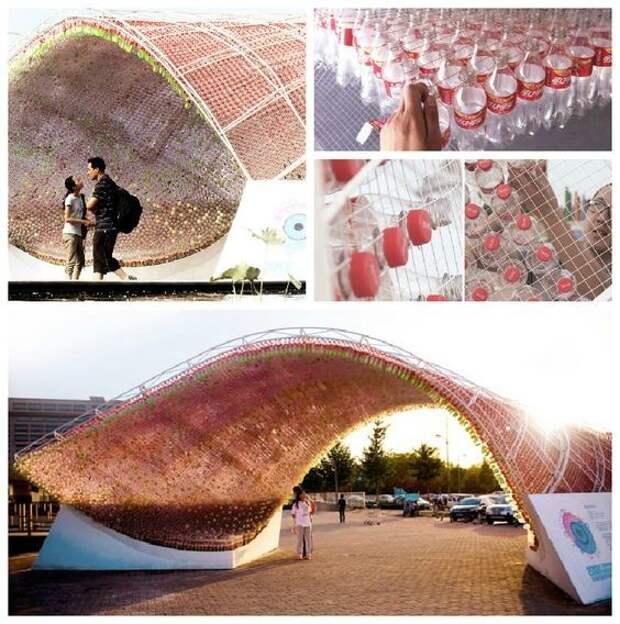 Из бутылок Кока-колы интересное, искусство, креатив, творчество