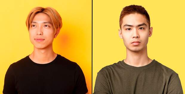 Гораздо сложнее отличить корейца (слева) от японца (справа). Обе страны следуют западным трендам и моде, поэтому их жители сильно похожи друг на друга