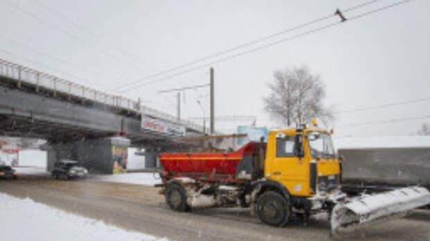 Упрдор подготовило песок и соль для петербургских дорог