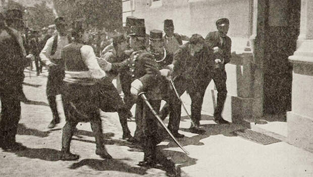 Задержание Гаврило Принципа после покушения