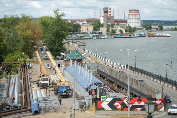 В сердце города: как проходит реконструкция теплосетей на плотине Ижевского пруда