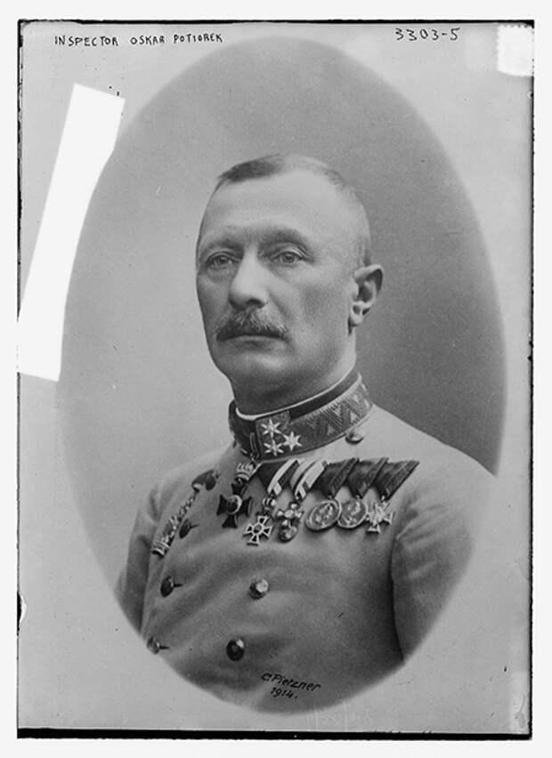 Генерал Оскар Потиорек, губернатор Боснии и Герцеговины. 1914 год. Фото: С. Pietzner