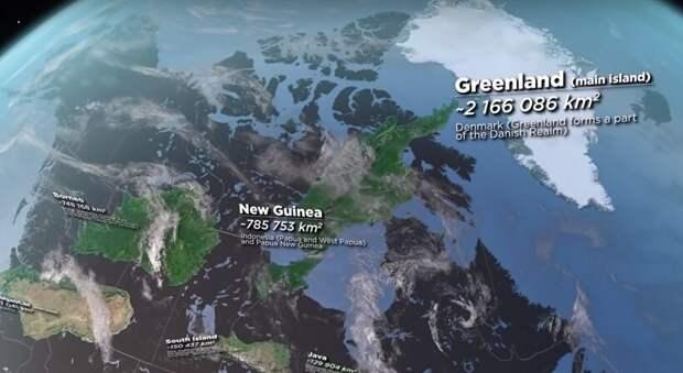 Видео: Сравнение островов в формате 3D от Лесбоса до Борнео — какой самый большой
