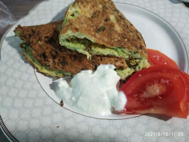 Быстрый  завтрак из капусты и яиц