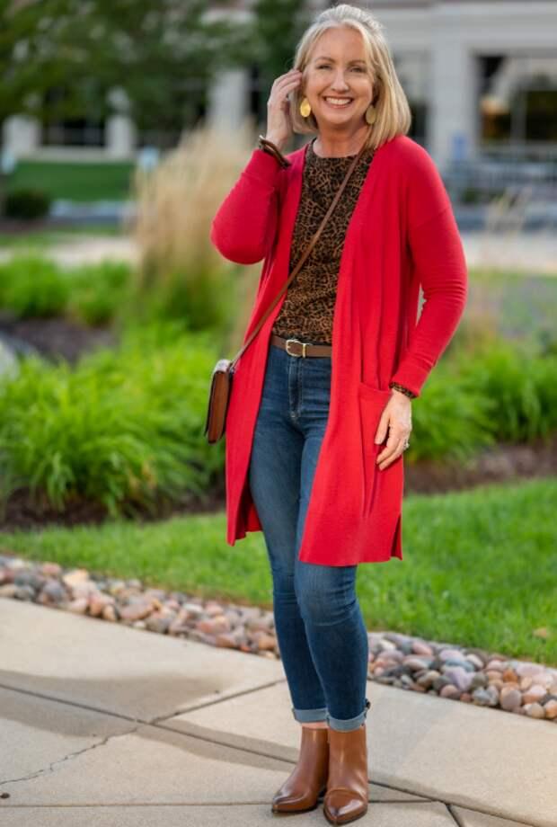 Как носить длинный теплый кардиган и не выглядеть громоздко