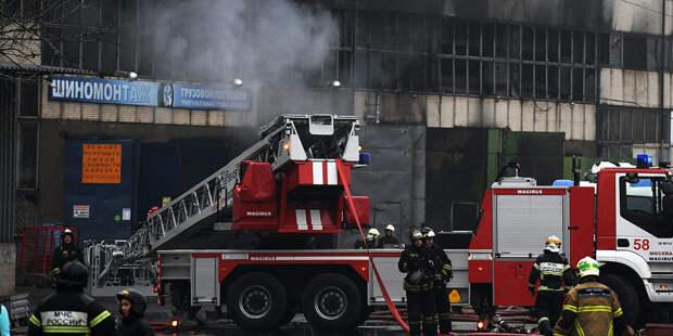 Площадь пожара в Москве выросла до 7 тысяч «квадратов»