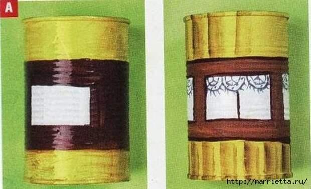 Сказочный паровозик из крышек и железных банок (7) (463x283, 83Kb)