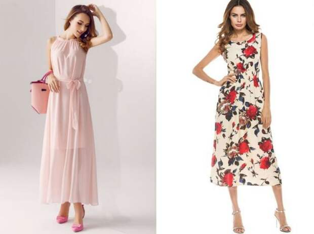 повседневные шифоновые платья 2018