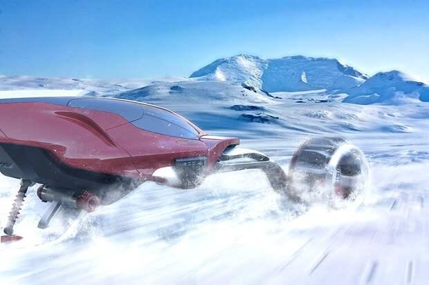 Концепт высокоскоростного снегохода