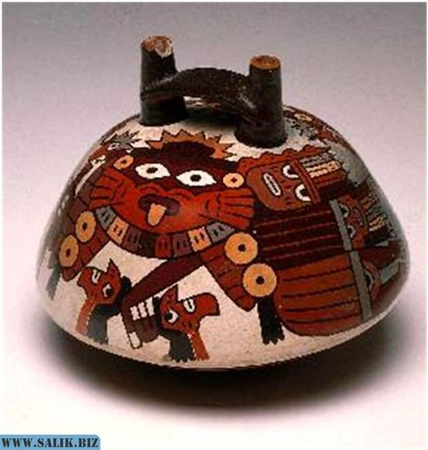 Рис. 3. Полихромная керамика Наска.