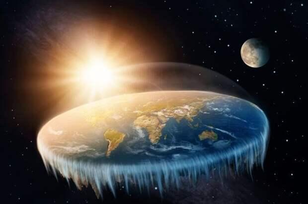 Сторонники теории плоской Земли предложили свое объяснение «кровавой Луне»