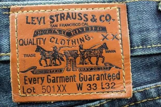 Компания Levi's стала первым производителем джинсов с кожаными нашивками на поясе / Фото: pinterest.ru