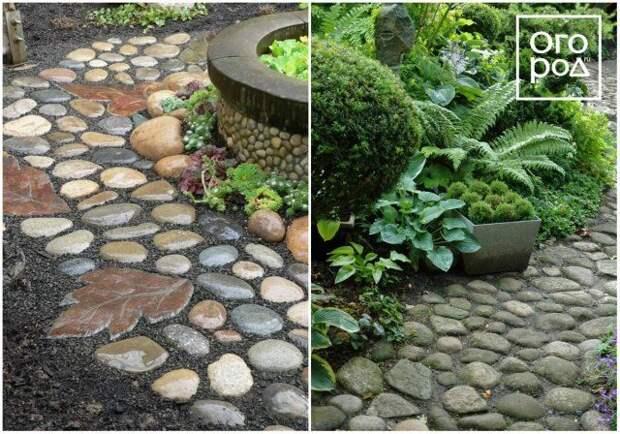садовая дорожка из булыжника