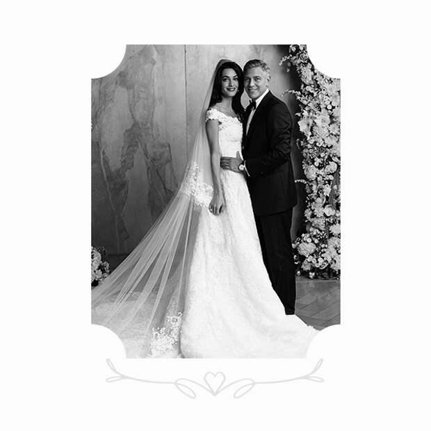 Амаль Аламуддин в платье Oscar de la Renta и Джордж Клуни