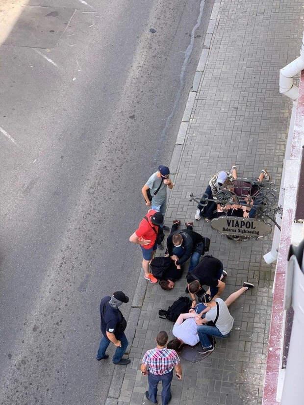 В Минске жестко задержали российских журналистов