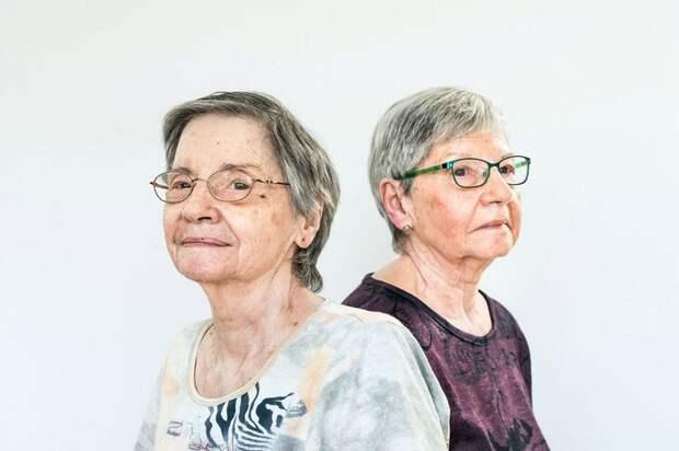 Аннет и Сесиль Дионн в 2017 году.