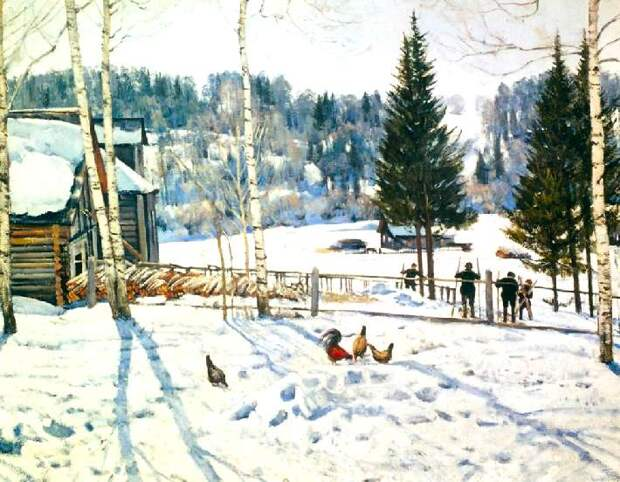 Зима в картинах русских художников и музыке П.Чайковского