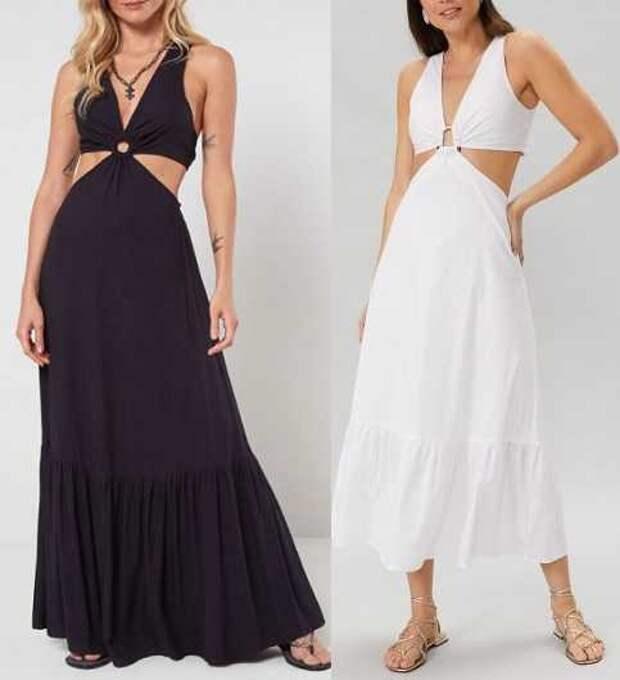 Выкройка смелого платья в пол на жару