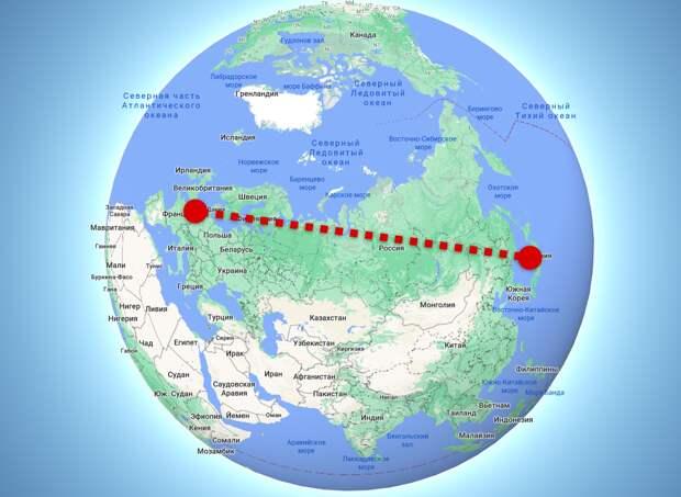 Кратчайший путь на глобусе