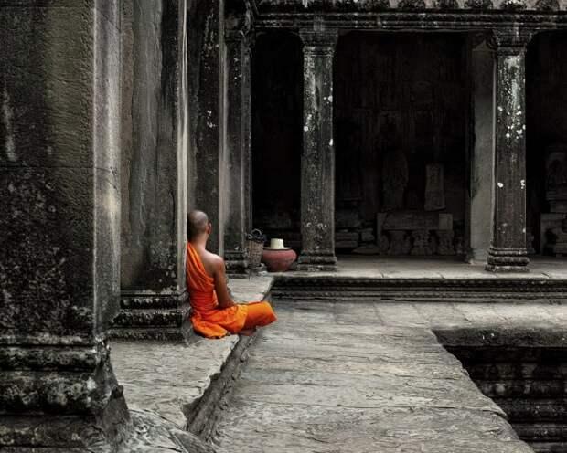 a-Monk-Meditating
